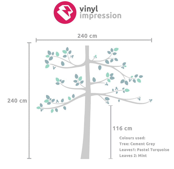 Tall Kids Tree Vinyl Wall Sticker in  by Vinyl Impression
