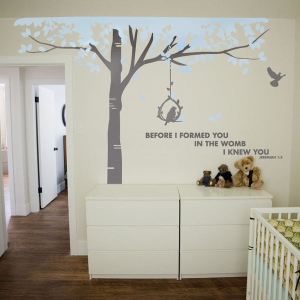 Tall Tree Vinyl Wall Sticker in Abstract by Vinyl Impression