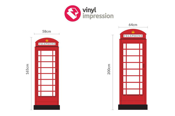 British Telephone Box Wall Sticker in  by Vinyl Impression