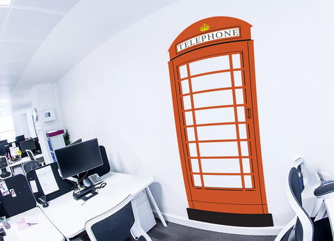 British telephone box mockup