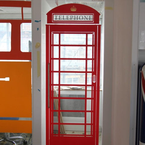 Removable Window Stickers By Vinyl Impression - Telephone Box