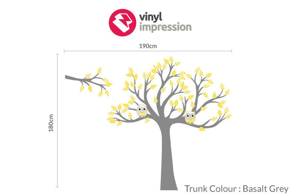 Tree with pattern leaves -Yellow in Home by Vinyl Impression