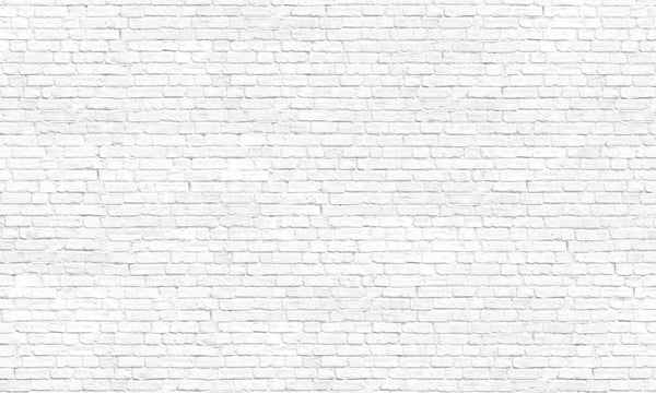 Premium White Brick Wall Mural (Laminated) in Wall Covering by Vinyl Impression