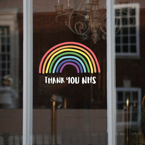 NHS Rainbow Window Sticker