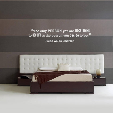 Ralph Waldo Emerson motivational wall sticker decal for homes and office branding projects