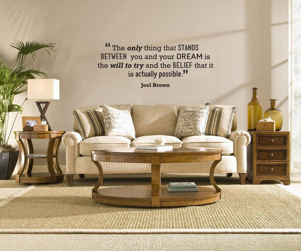 Dream!' Motivational quote wall sticker in  by Vinyl Impression