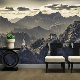 Great wall of China Wall Mural in Wall Covering by Vinyl Impression