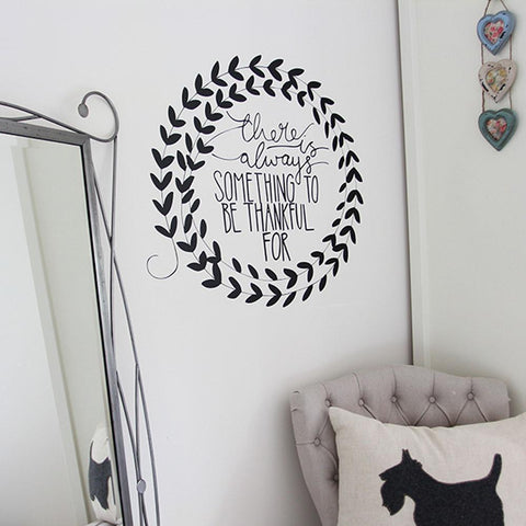 Positive welcoming message to a home. Motivational Wall stickers for the home