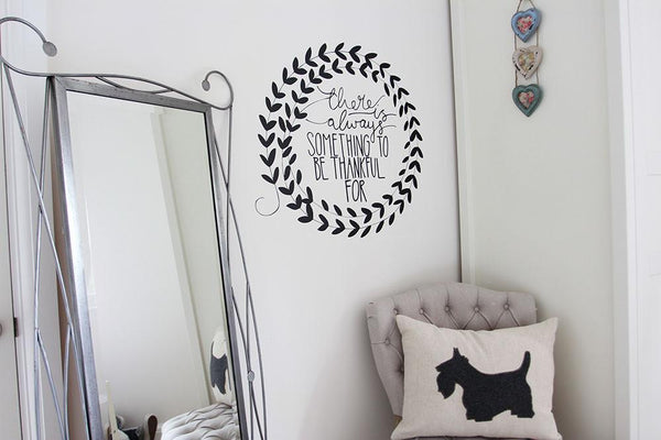 Thankful wall sticker in  by Vinyl Impression