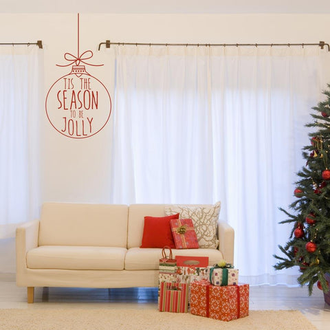 Removable bauble Chrismas decoration decal wall sticker