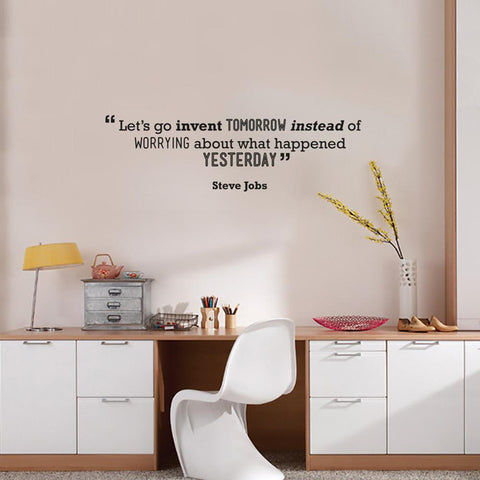 Steve Jobs Quote removable Quote wall sticker for rented office