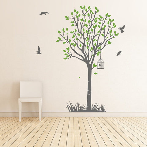 Tree with grass Wall Sticker