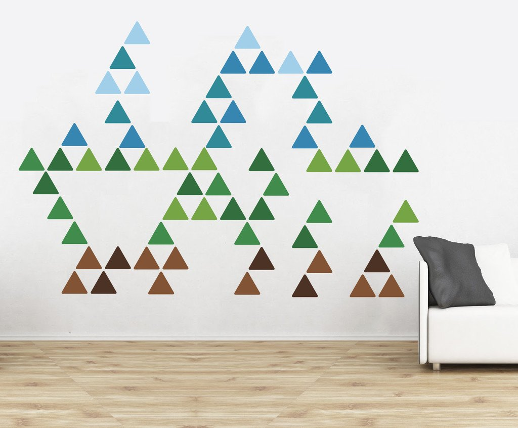 Triangle pattern wall stickers vinyl impression triangle pattern wall stickers in by vinyl impression amipublicfo Gallery