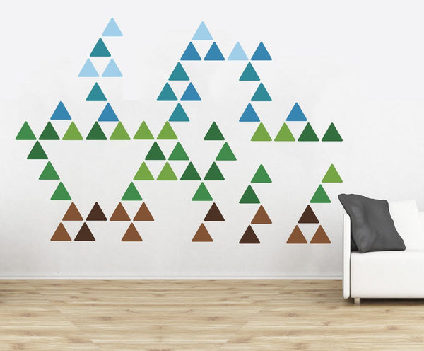 Triangle Pattern Wall Stickers in Home by Vinyl Impression