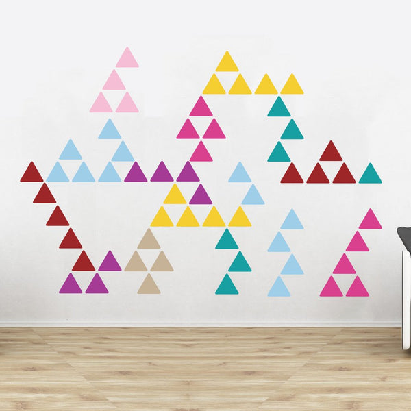Triangle Pattern Wall Stickers in All Products by Vinyl Impression