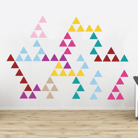 Triangle wall sticker decals in multiple colours