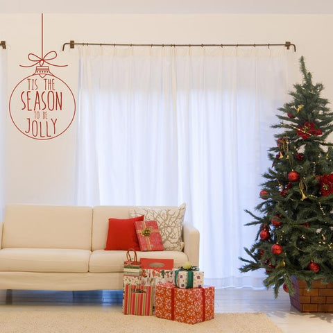 wall art sticker decal for the christmas festive period