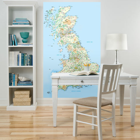UK map whiteboard sticker for businesses