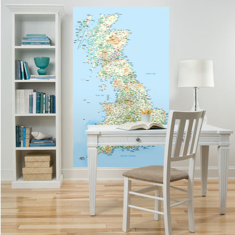 UK Map Wall Sticker for offices.