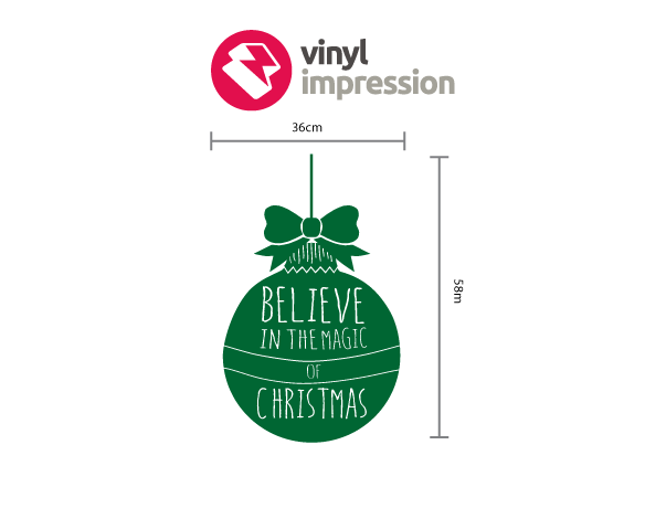 Christmas Bauble decoration wall sticker in  by Vinyl Impression