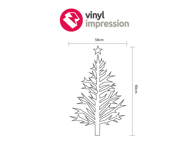 Branch Christmas Tree decoration wall sticker in  by Vinyl Impression