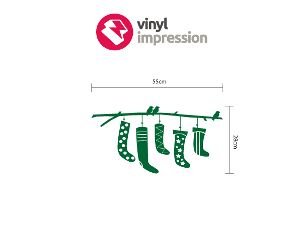 Stockings decoration wall sticker in  by Vinyl Impression