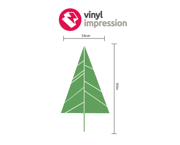 Christmas tree decal decoration wall sticker in  by Vinyl Impression