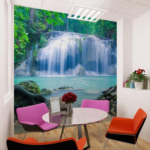 Premium Waterfall Timelapse Wall Mural (Laminated)