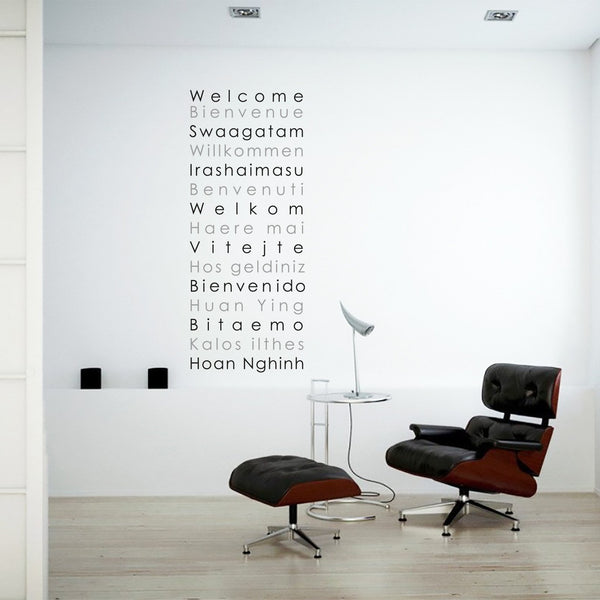 Welcome international wall sticker in  by Vinyl Impression