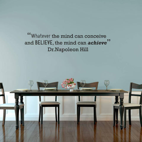 Dr Napoleon Hill wall sticker quote. Wall art motivational quote designs for home and offices