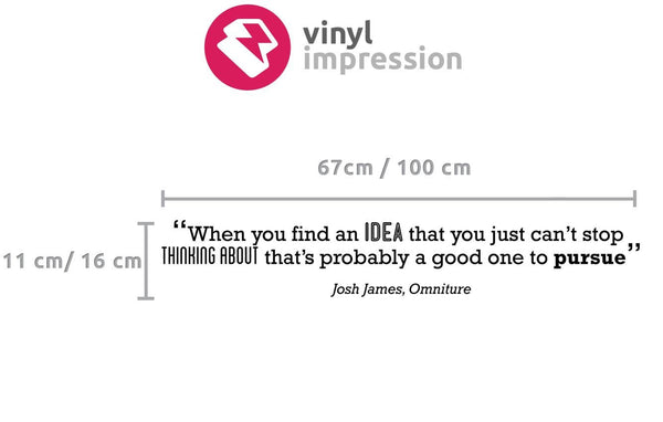Idea' Motivational Quote Wall Sticker in  by Vinyl Impression