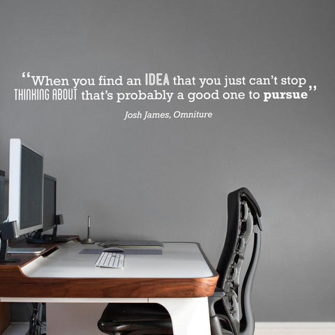 Famous technology quote temporary wall sticker for your office branding