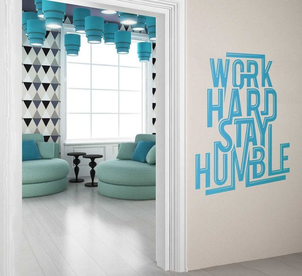 Work Hard Stay Humble Office Wall Sticker in  by Vinyl Impression