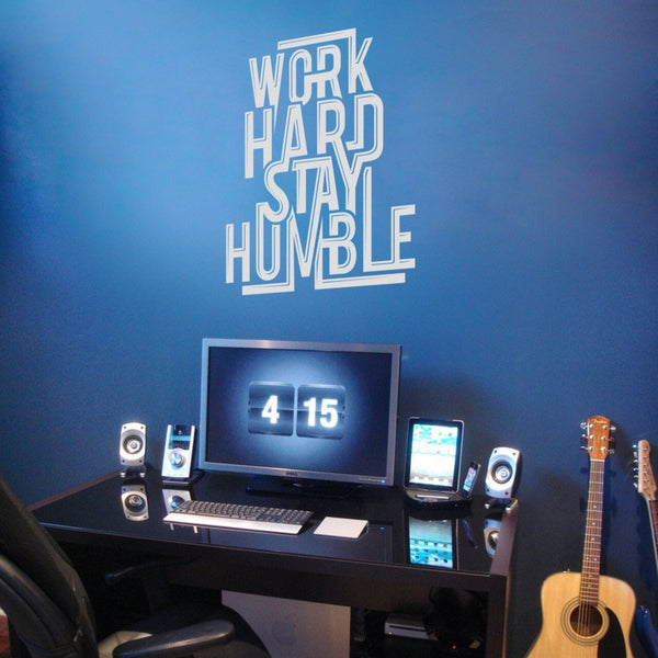 Work Hard Stay Humble wall sticker in  by Vinyl Impression