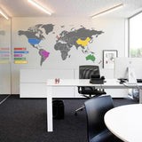 World Map Infographic Wall Sticker in  by Vinyl Impression