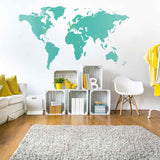 World Map Vinyl Wall Sticker in Nature by Vinyl Impression