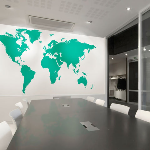 office world map. Extra Large Office World Map Vinyl Wall Sticker Impression