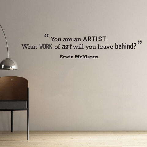 Leave a work of art wall sticker removable quote