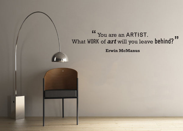 Artist' Motivational Quote Wall Sticker in Office by Vinyl Impression