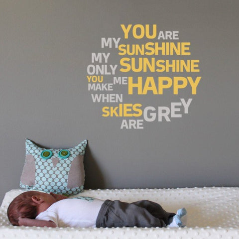 Wall art decals and stickers for kids and children's bedrooms and baby nurseries