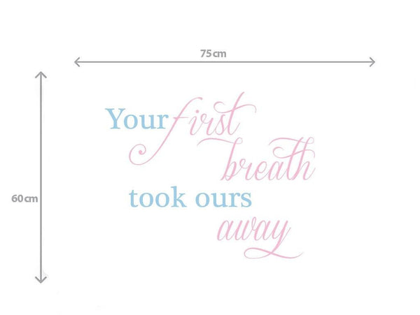 First Breath Wall sticker in Quotes and Words by Vinyl Impression