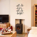 All Is Calm Christmas decoration wall sticker in  by Vinyl Impression
