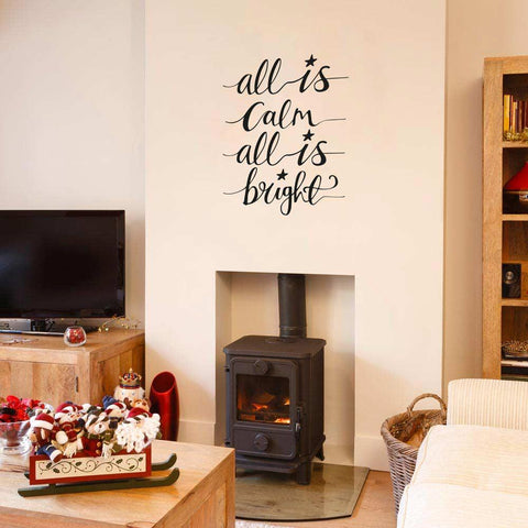 Christmas song lyric wall sticker decoration