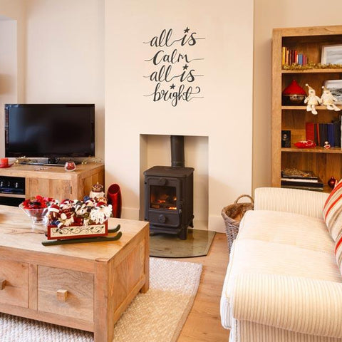 Removable Christmas typographic wall decal for walls