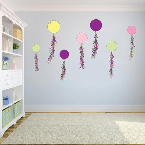 Party balloon wall sticker pack for interior decoration.