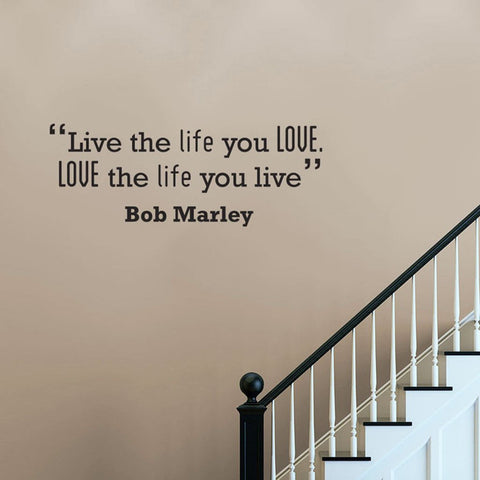 Bob Marley removable wall Quote