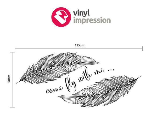 Come fly with me wall sticker in  by Vinyl Impression