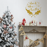 Deck the Halls Christmas decoration wall sticker in  by Vinyl Impression