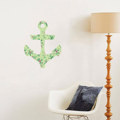 Floral anchor decal wall art graphic