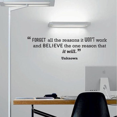 Motivational Quote temporary Wall sticker for Start Ups in rented offices